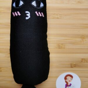 Kattenknuffel met kattenkruid Zwart
