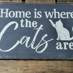 Katten tekstborden